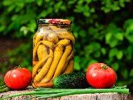 Рецепта Чорбаджийски чушки с олио и оцет в буркани (зимнина)